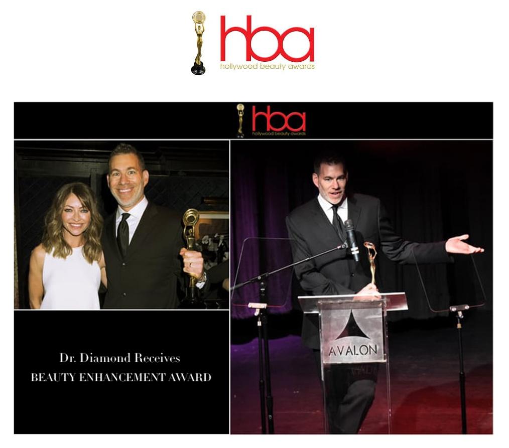 Hollywood Beauty Awards, Dr. Diamond receives beauty enhancement award