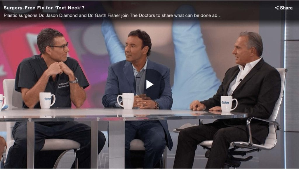 Dr. Diamond guest appearance on The Doctors, discusses Surgery Free Fix for 'Text Neck'